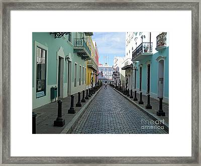Framed Print featuring the photograph San Juan Puerto Rico by Roberta Byram