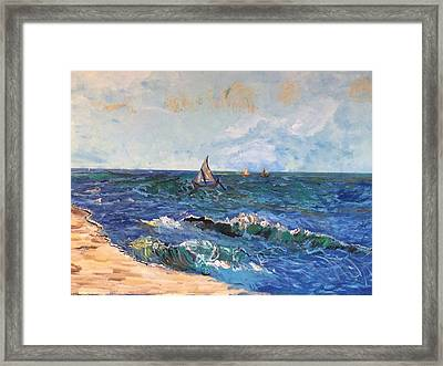 Come Sail With Me Framed Print by Belinda Low