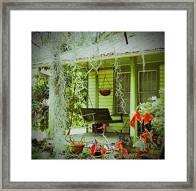 Come Sit Awhile Framed Print by Patricia Greer