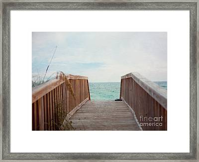 Come Take A Beach Walk Framed Print by Kay Pickens