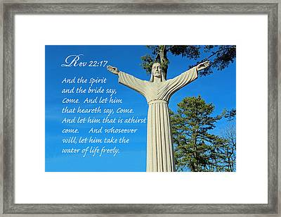Come To Jesus Framed Print