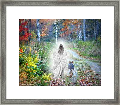 Come Walk With Me Framed Print by Sue Long