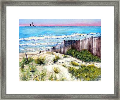 Come With Me---down To The ....  Framed Print by Ruth Bodycott