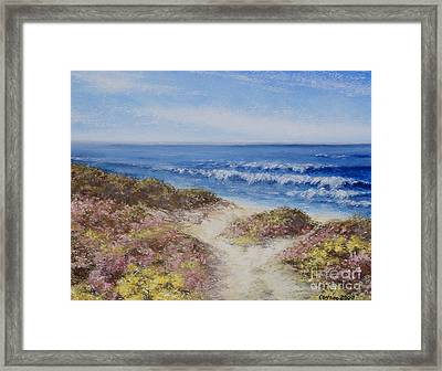 Framed Print featuring the painting Come With Me by Stanza Widen