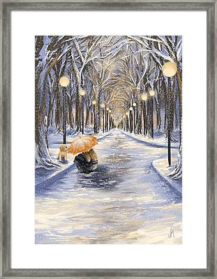 Come With Me Framed Print by Veronica Minozzi