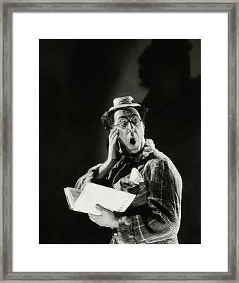 Comedian Ed Wynn Looking Shocked Framed Print by Edward Steichen