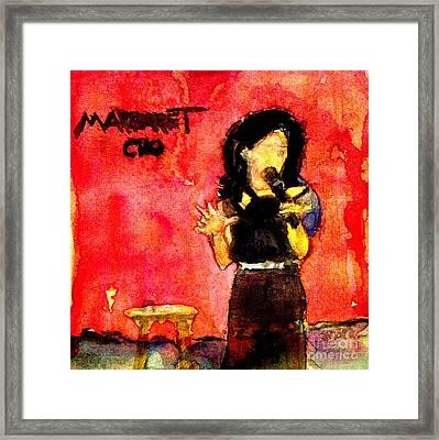 Comedian Margaret Cho Framed Print by Sandra Stone