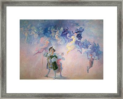 Comedy Framed Print by Jules Cheret