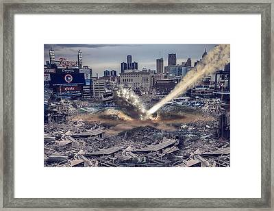 Framed Print featuring the photograph Comerica Park Asteroid by Nicholas  Grunas