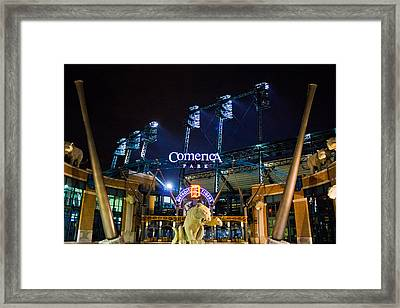 Comerica Park At Night  Framed Print by John McGraw