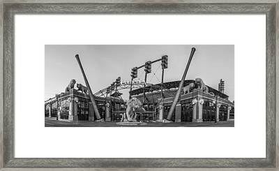 Comerica Park Black And White Framed Print