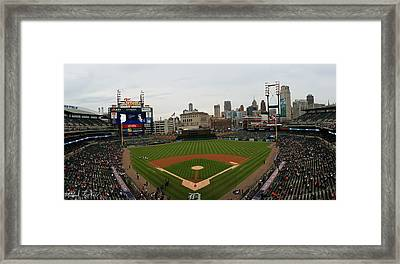 Comerica Park - Detroit Tigers Framed Print by Michael Rucker