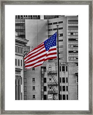 Comerica Park Flag Framed Print