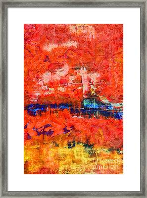 Comes From Within Abstract Framed Print by Edward Fielding