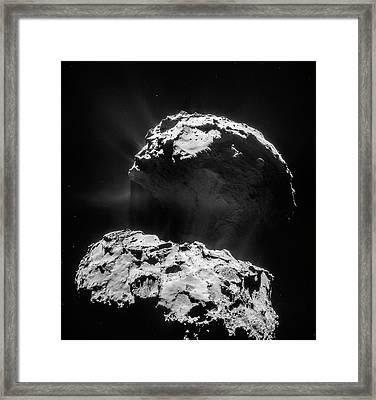 Comet 67p Churyumov-gerasimenko Framed Print by Rosetta/navcam/esa