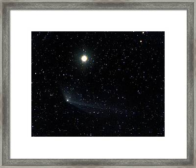 Comet C2011 L4 With The Star Kochab Framed Print by Damian Peach
