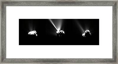 Comet Churyumov-gerasimenko At Perihelion Framed Print by European Space Agency/rosetta/mps For Osiris Team Mps/upd/lam/iaa/sso/inta/upm/dasp/ida