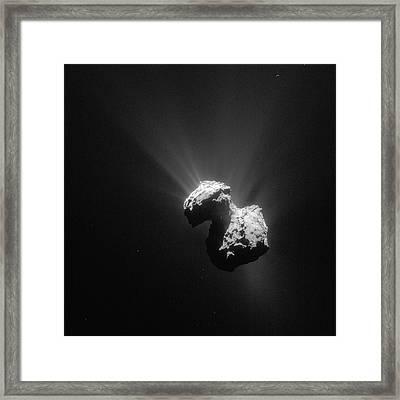 Comet Churyumov-gerasimenko Framed Print by European Space Agency/rosetta/navcam