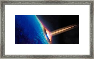 Comet Crashing Into Earth Framed Print by Panoramic Images