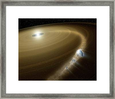 Comet Destroyed By White Dwarf Framed Print by Nasa/jpl-caltech/t. Pyle (ssc)