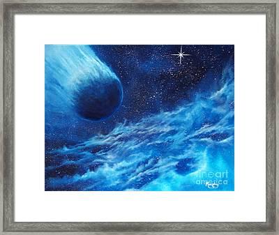 Comet Experience Framed Print by Murphy Elliott