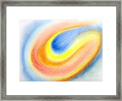 Comet Glow Color Abstract Framed Print