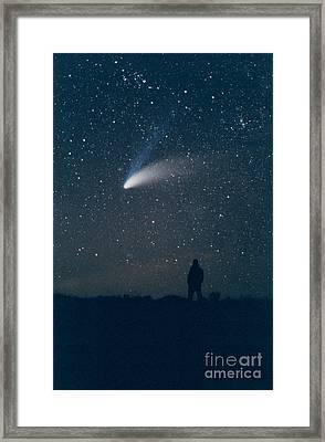 Comet Hale-bopp Framed Print by John Chumack