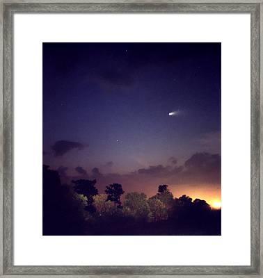 Comet Hale-bopp. Lake Cypress. Framed Print by Chris  Kusik