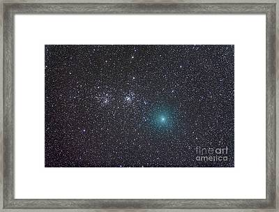 Comet Hartley 2 As It Approaches Framed Print by Alan Dyer