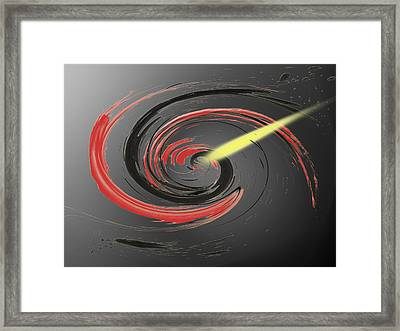 Comet Framed Print by Matthew Angelo