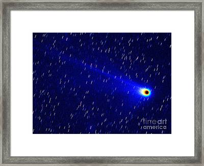 Comet Neat C2001 Q4 In False Color Framed Print by Chris Cook
