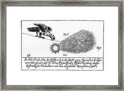 Comet Of 1664-5 Framed Print by Cci Archives