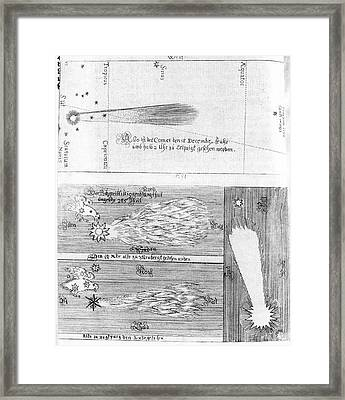 Comet Of 1664-5 Framed Print by Royal Astronomical Society