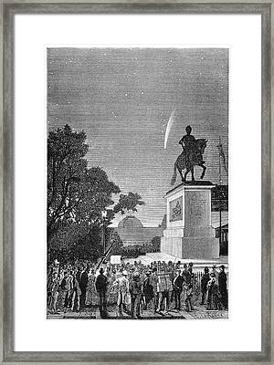 Comet Of 1874 From Paris Framed Print by Royal Astronomical Society