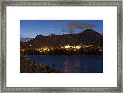Framed Print featuring the photograph Comet Panstarrs by Perspective Imagery