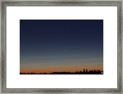 Comet Panstarrs Framed Print