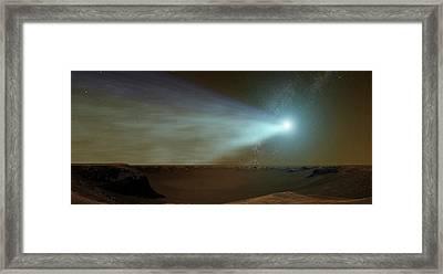 Comet Siding Spring From Mars Framed Print