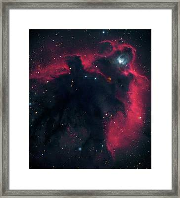 Cometary Globule Ldn 1622 In Orion Framed Print
