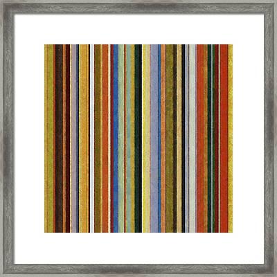Comfortable Stripes V Framed Print by Michelle Calkins