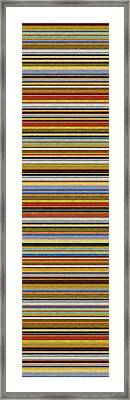 Comfortable Stripes Vll Framed Print by Michelle Calkins