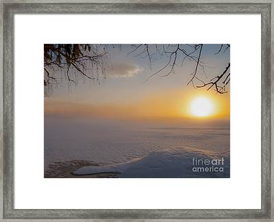 Framed Print featuring the photograph Comfortable Winter View by Rose-Maries Pictures