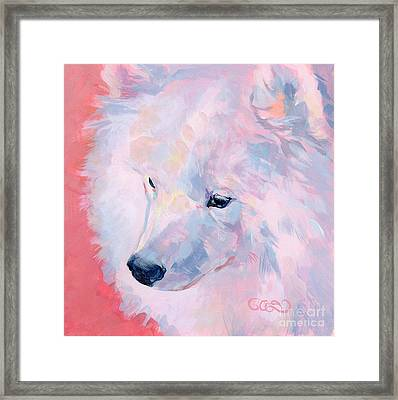 Comfortable With His Masculinity Framed Print by Kimberly Santini