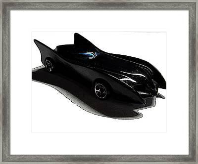 Comic Batmobile Framed Print