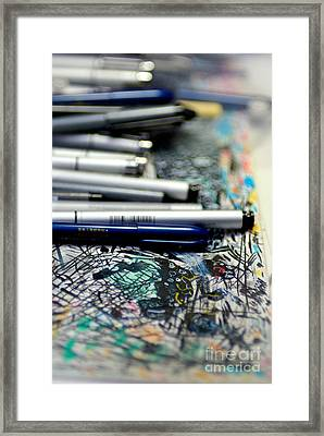 Comic Book Artists Workspace Study 1 Framed Print by Amy Cicconi