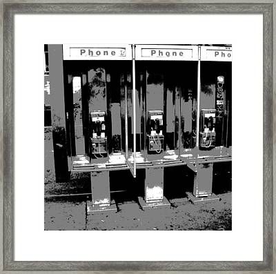 Comic Book Phone Booths Framed Print by Dan Sproul