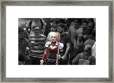 Comic-cons  Man Eater Framed Print by Russ Harris