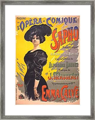 Comic Opera Playbill 1897 Framed Print by Padre Art