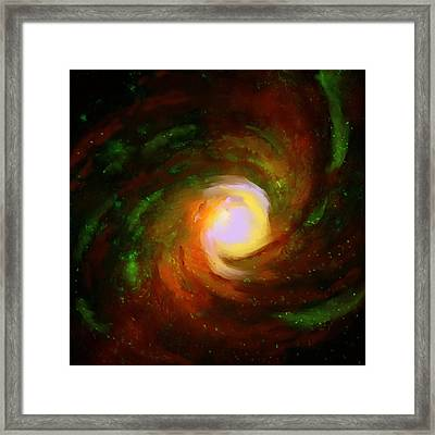 Comic Spiral Framed Print