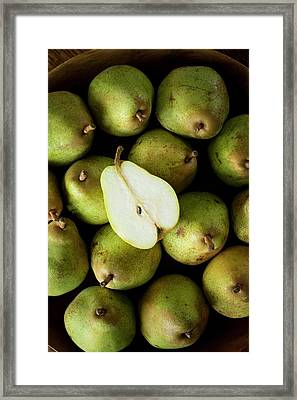 Comice Pears Framed Print by Aberration Films Ltd