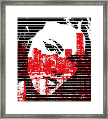 Framed Print featuring the digital art Comics Art by Ze  Di